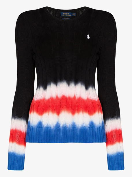 Polo Ralph Lauren polo pony tie-dye cotton sweater in black