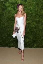 dress,midi dress,white,white dress,candice swanepoel,celebrity,floral,satin,satin dress