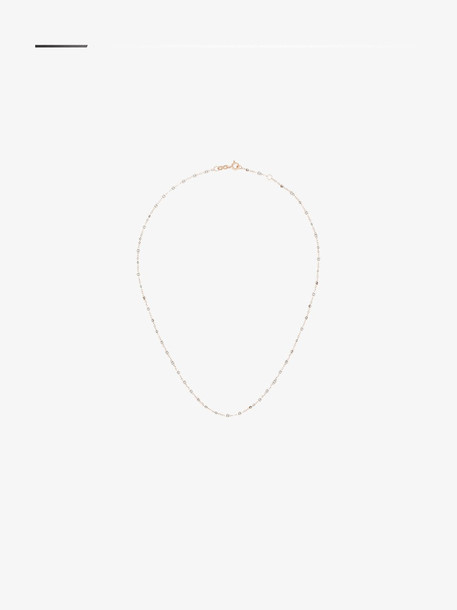 Gigi Clozeau 18K rose gold and resin silver beaded necklace