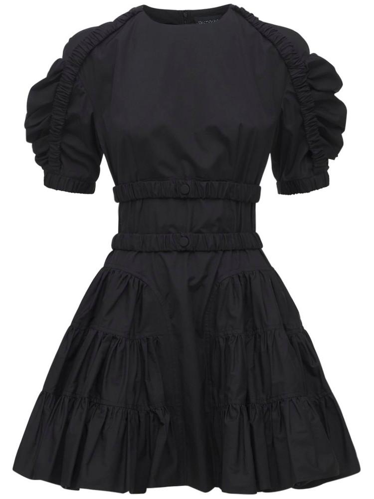 GIOVANNI BEDIN Cotton Poplin Mini Dress in black