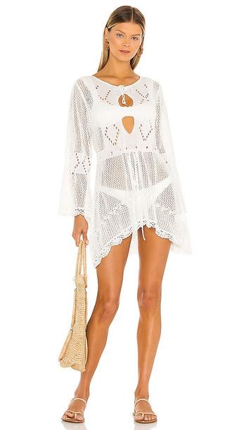 SNDYS Jade Crochet Dress in White