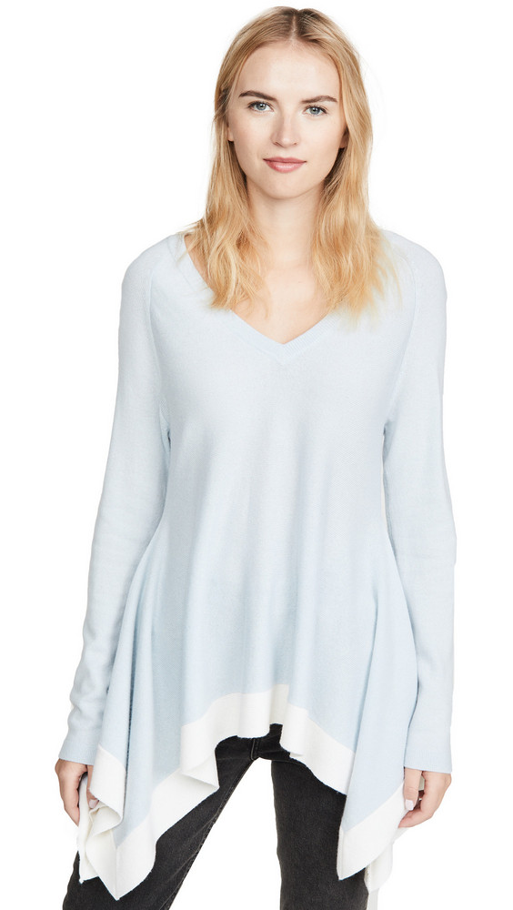 TSE Cashmere Draped Cashmere Sweater in blue