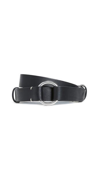 Rag & Bone Arc Circle Belt in black