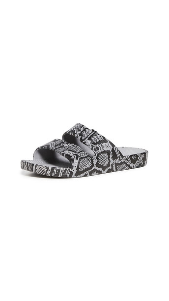 Freedom Moses Two Band Slides in grey