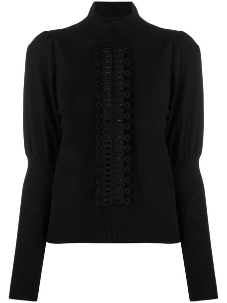 See by Chloé pearforated panel jumper in black