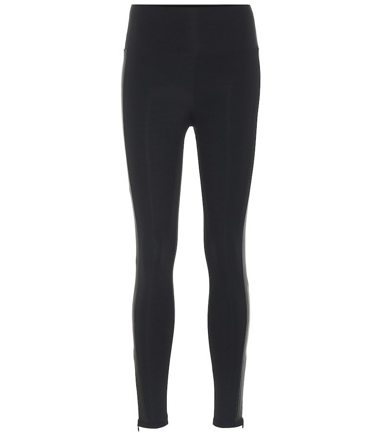 Lanston Sport Dare side-zip leggings in black