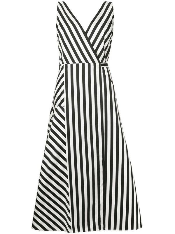 Anna October striped midi dress in black