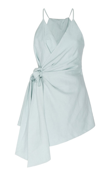Significant Other Zahara Linen Wrap Romper in neutral