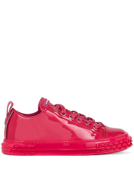 Giuseppe Zanotti low-top leather sneakers in pink