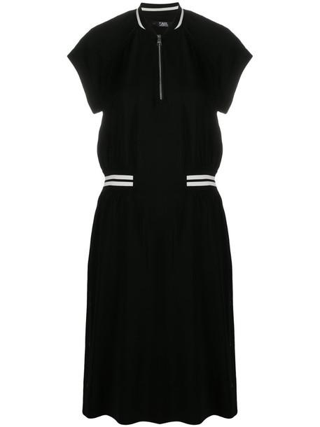 Karl Lagerfeld Cady tennis dress in black