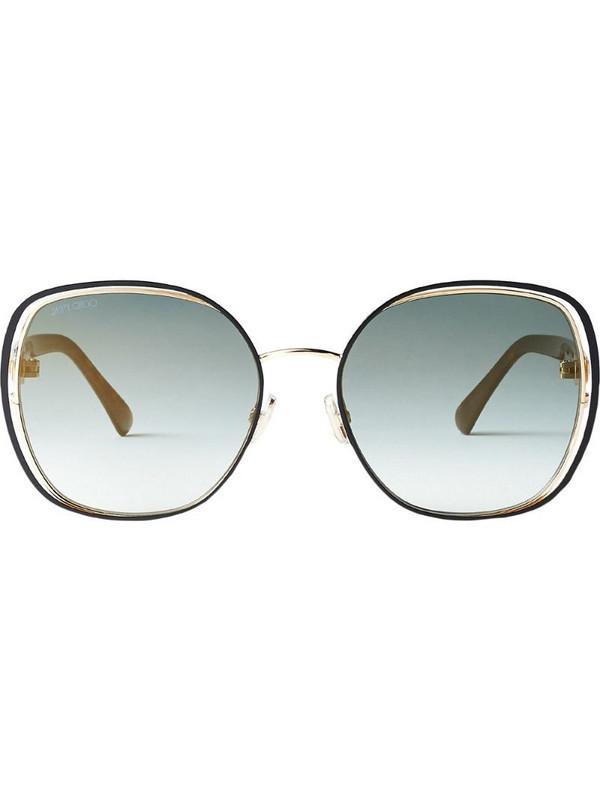 Jimmy Choo Eyewear Dodie oversize-frame sunglasses in green