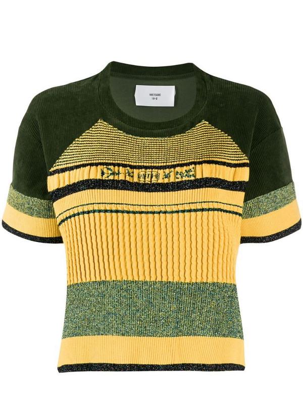 Quetsche short-sleeve striped T-Shirt in green