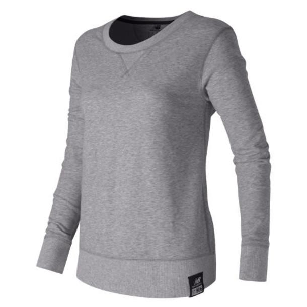 New Balance 53501 Women's Crew Neck Sweatshirt - Grey (WT53501AG)