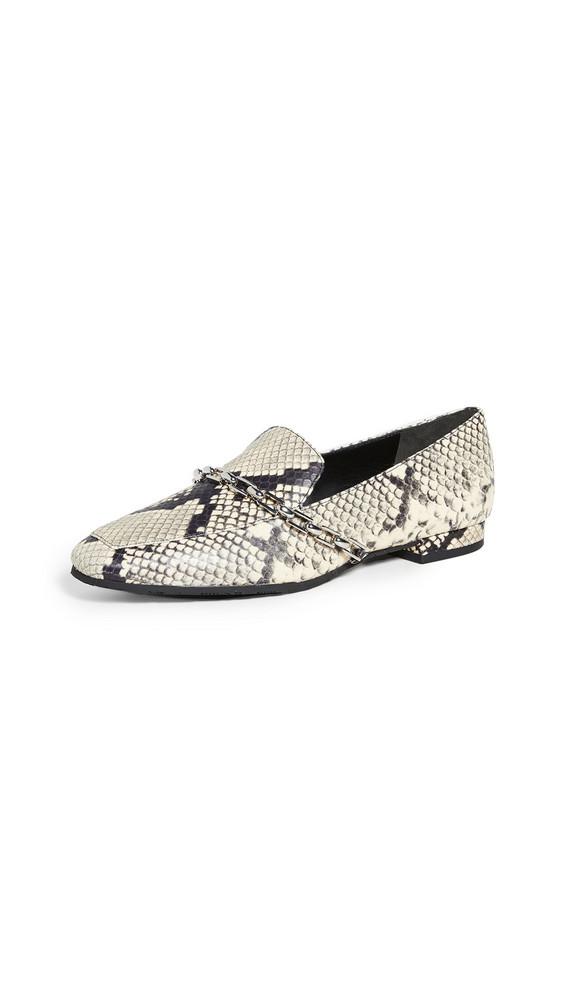 Stella Luna Lenny Chain Loafers in black / white