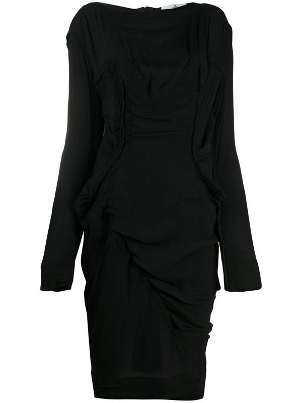 Vivienne Westwood fitted wool midi dress in black