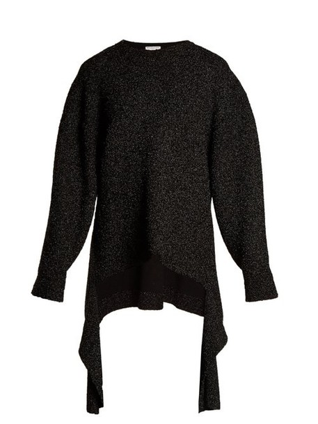 Balenciaga - Extended Cuff Long Line Sweater - Womens - Black