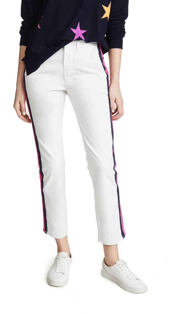 MOTHER The Straight Shaker Ankle Jeans in pink