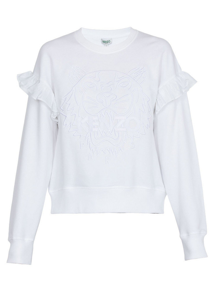 Kenzo Cotton Sweatshirt in white