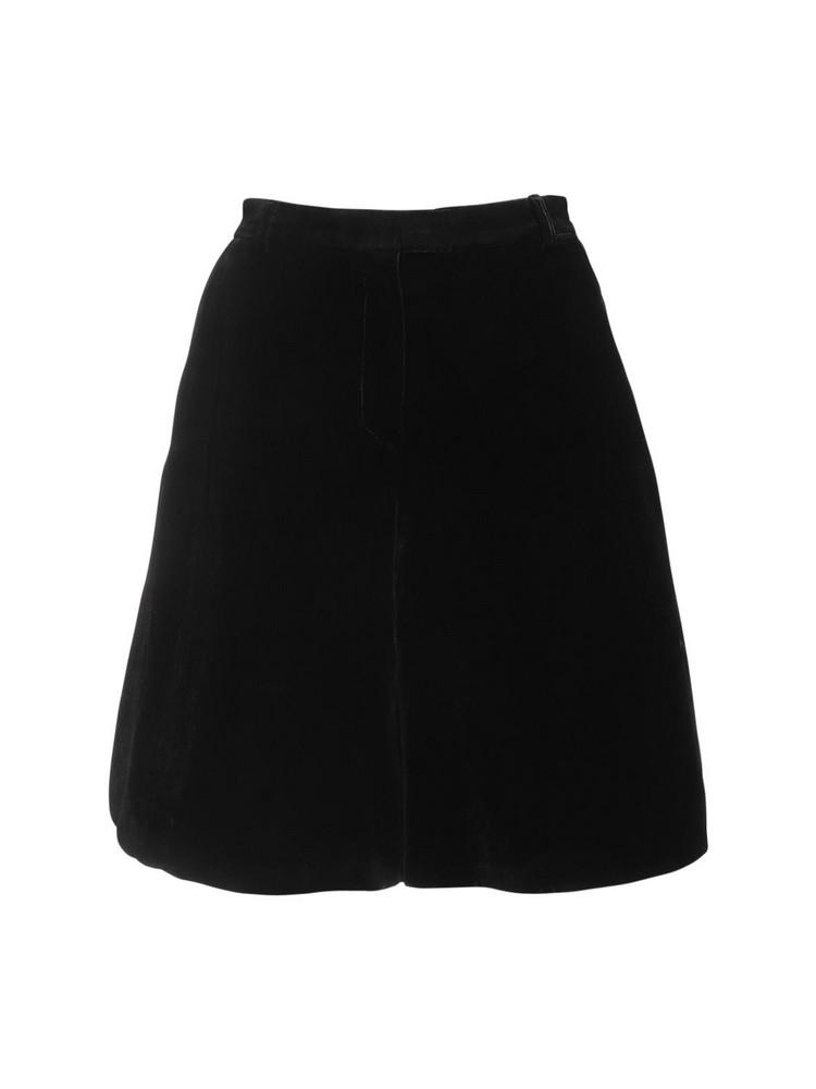 CECILIE BAHNSEN Mille Velvet Shorts in black