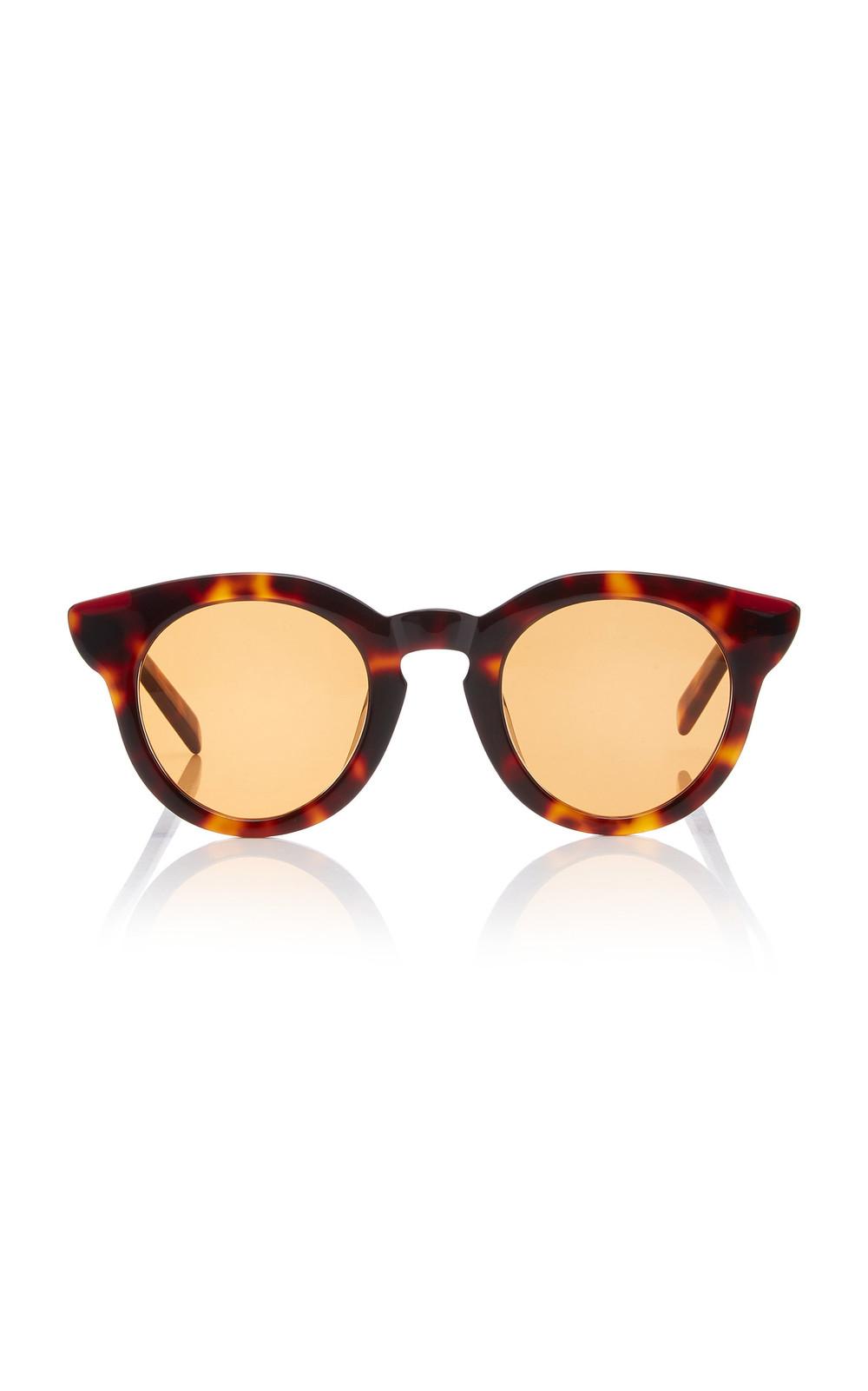 940b0fc1e2214 Spektre Fingers Round-Frame Acetate Sunglasses in orange