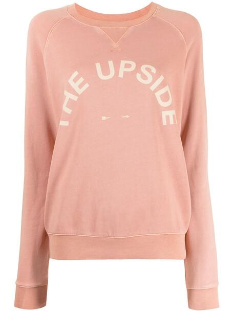 The Upside Bondi logo-print crewneck sweatshirt - Pink