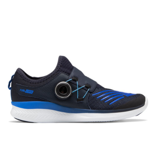 New Balance FuelCore Reveal Kids Grade School Running Shoes - Black/Blue (GKBKOEV)