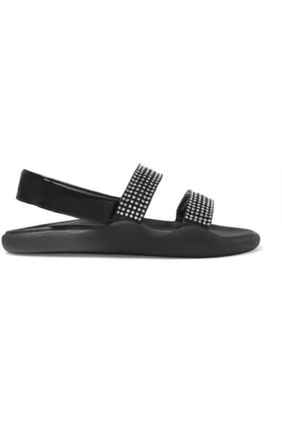 Christopher Kane - Crystal-embellished Leather Sandals - Black