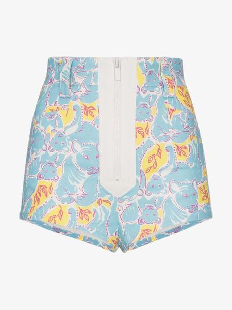 Miu Miu cub print shorts