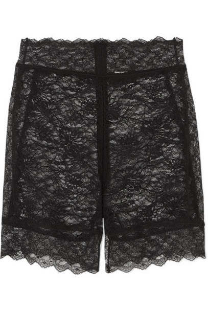 Dundas - Stretch-lace Shorts - Black