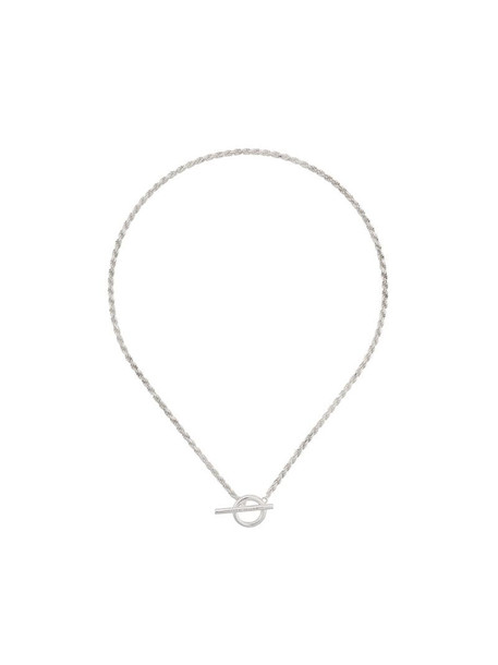 All Blues Rope polished sterling silver necklace