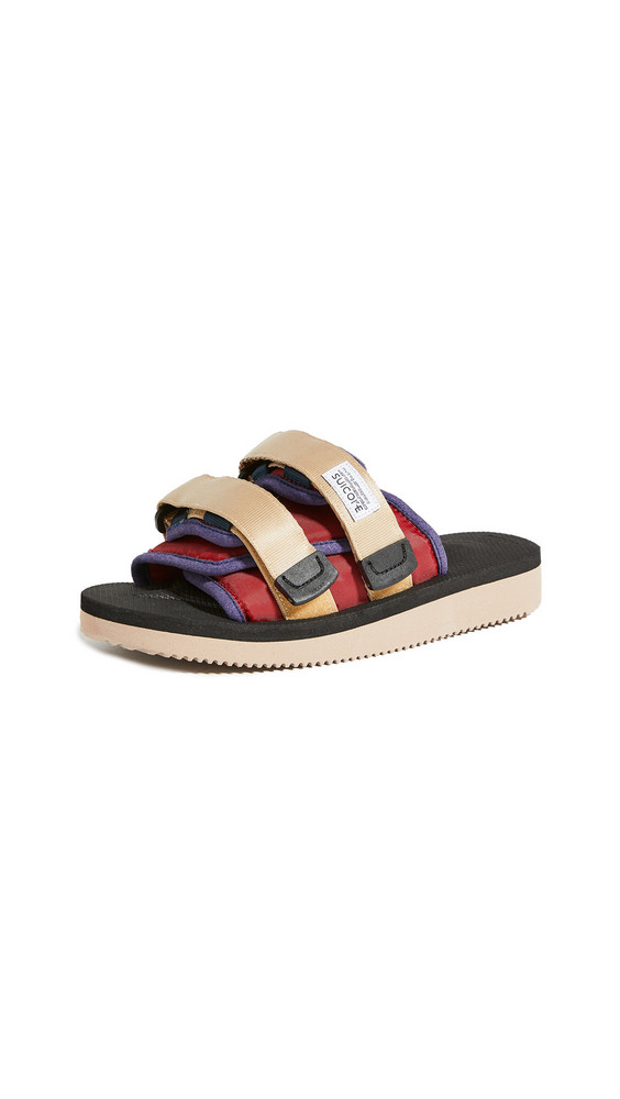 Suicoke Moto Cab Sandals in black / red