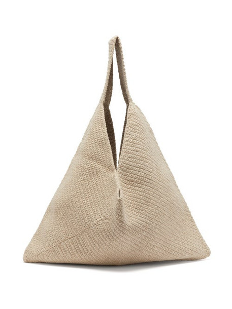 Lauren Manoogian - Triangle Crocheted Cotton-blend Tote Bag - Womens - Cream