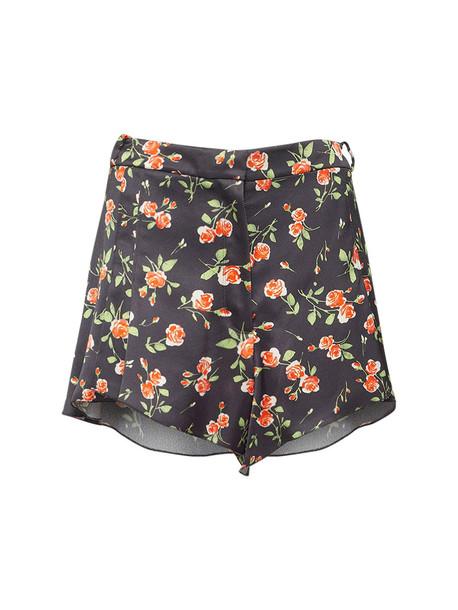 PACO RABANNE Printed Heavy Satin Mini Shorts in black / multi