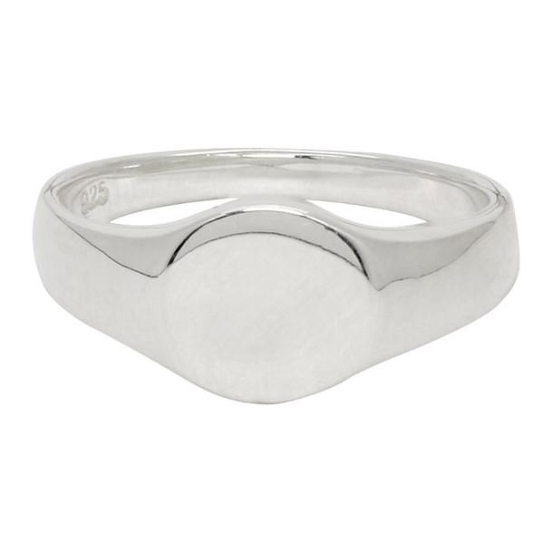 Saskia Diez Silver Oval No. 1 Signet Ring