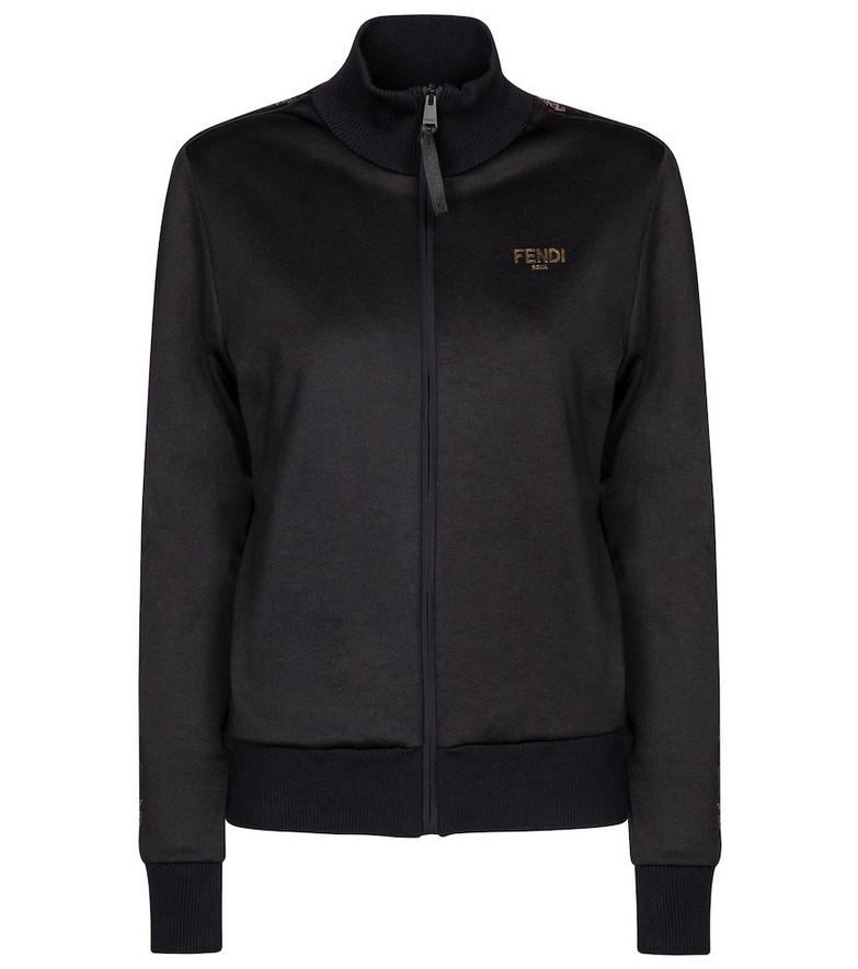Fendi Logo track jacket in black