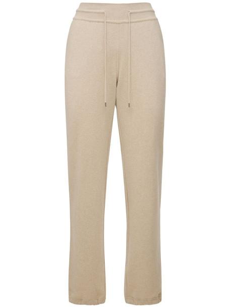 LORO PIANA Baby Cashmere Knit Merano Sweatpants in beige