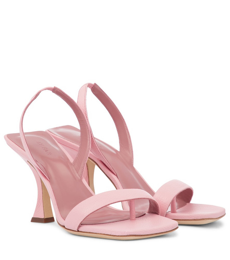 By Far Lotta leather slingback sandals in pink