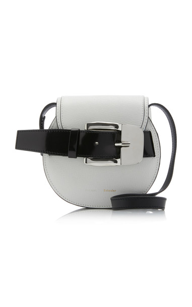 Proenza Schouler Mini Buckle Leather Crossbody in white