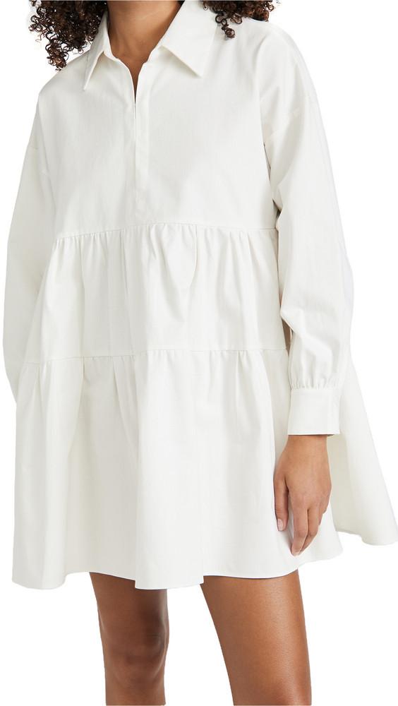 En Saison Cotton Poplin Mini Dress in white
