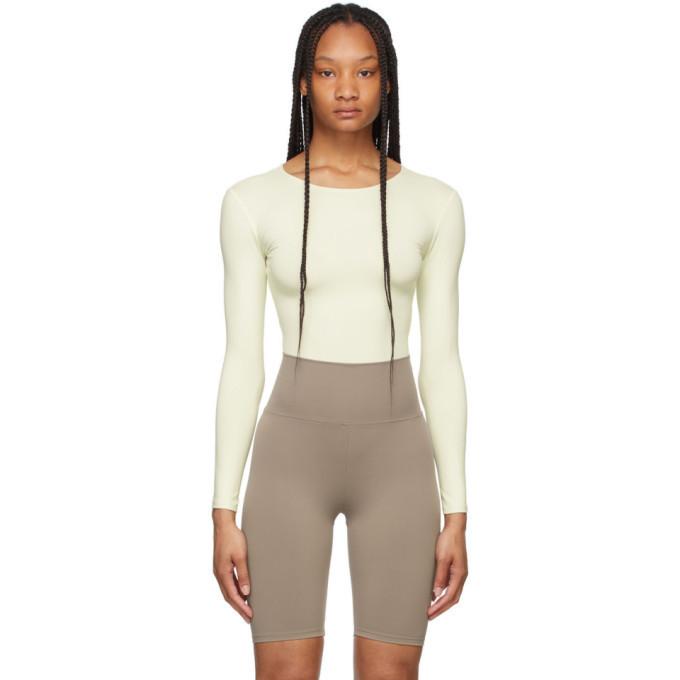 Norba Off-White Flow Bodysuit in ivory