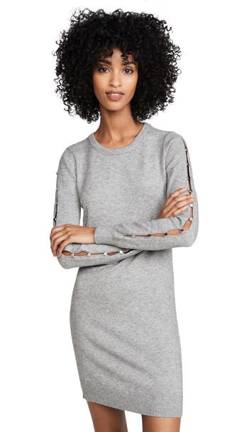 BB Dakota Button Or Nothing Sweater Dress in grey