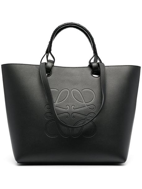 LOEWE Anagram leather tote bag in black