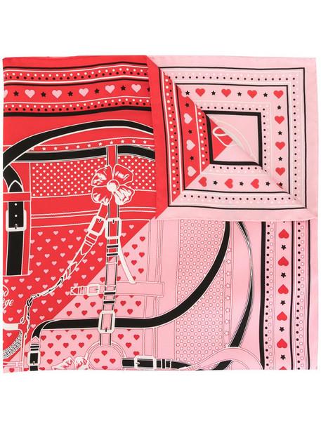 Hermès pre-owned Grand Manege bandana scarf in pink