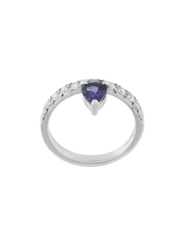 Dubini Theodora Iolite Drop 18kt white gold ring in blue