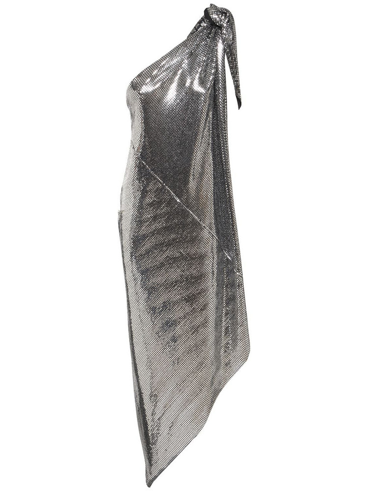 MM6 MAISON MARGIELA Asymmetric Convertible Sequined Dress in silver