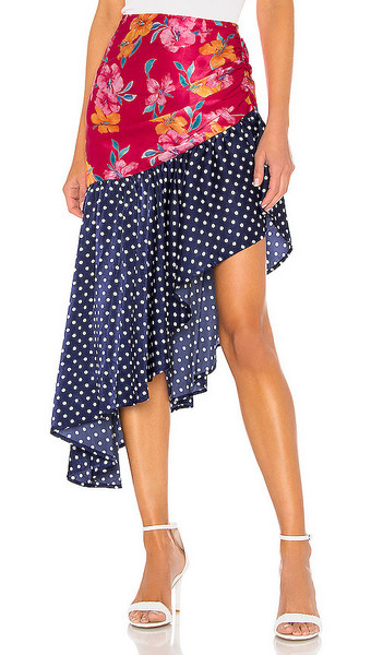 Lovers + Friends Lovers + Friends Warner Skirt in Pink,Navy