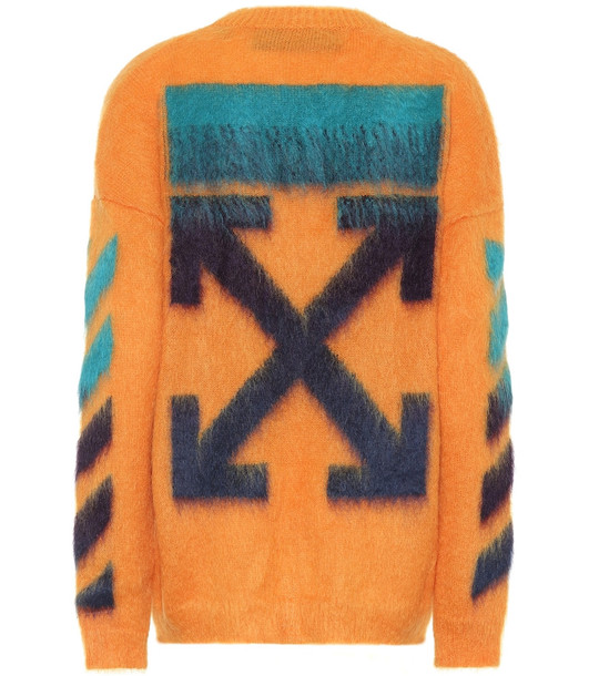 Off-White Mohair and wool-blend sweater in orange
