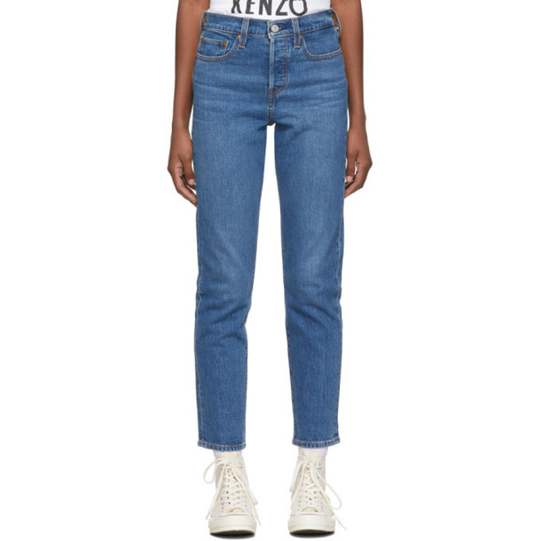 Levis Blue Wedgie Icon Fit Jeans