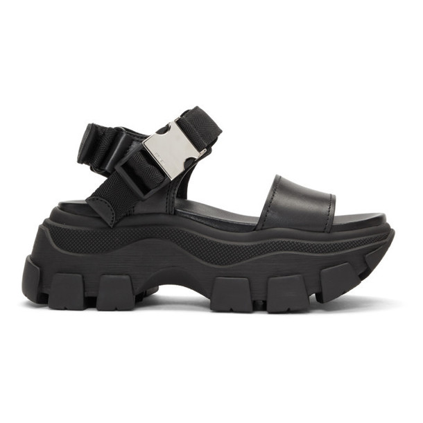 Prada Black Teva Platform Sandals