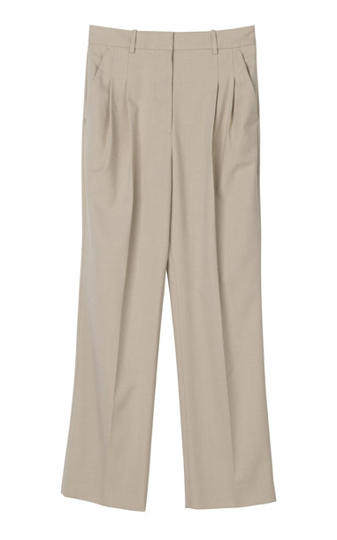 By Malene Birger Louisamay Mélange Twill Pants in white
